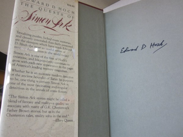 Quests Of Simon Ark Edward D Hoch First Edition