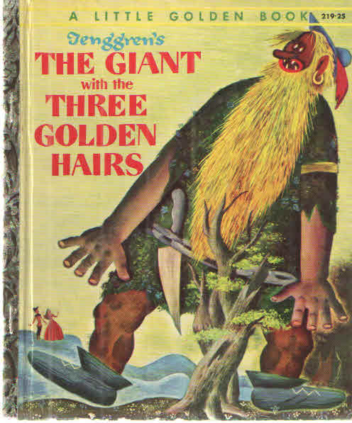 Tenggren's The Giant wtih the Three Golden Hairs. Grimm.