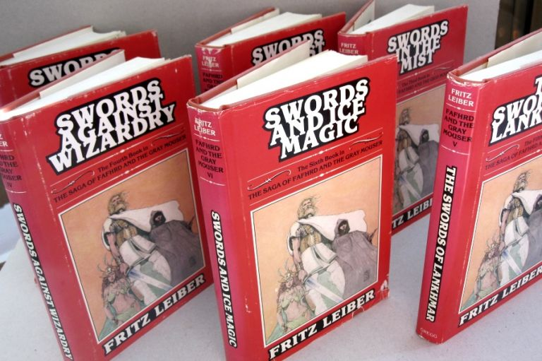 The Saga of Fafhrd and the Gray Mouser 6 volume set: Swords and Deviltry, Swords Against Death, Swords in the Mist, Swords Against Wizardry, The Swords of Lankhmar, Swords and Ice Magic. Fritz Leiber.