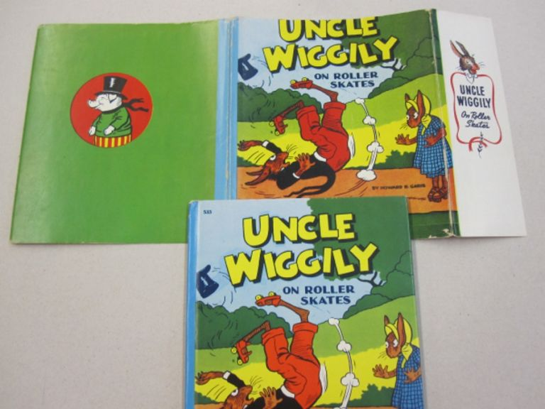 Uncle Wiggily on Roller Skates; or What Happened When the Skillery Scallery Alligator Gave Chase and Uncle Wiggily is Snowballed by the Fox and Wolf also Uncle Wiggily Plays a Joke on the Wolf. Howard R. Garis.