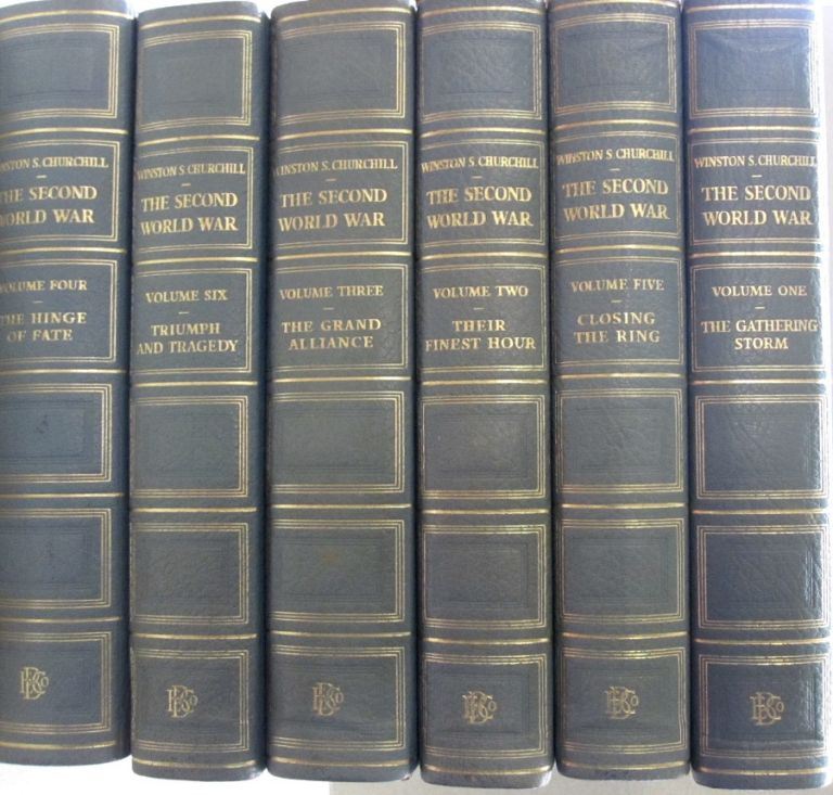 "The Second World War 6 Volume ""Chartwell"" Edition. Winston S. Churchill."
