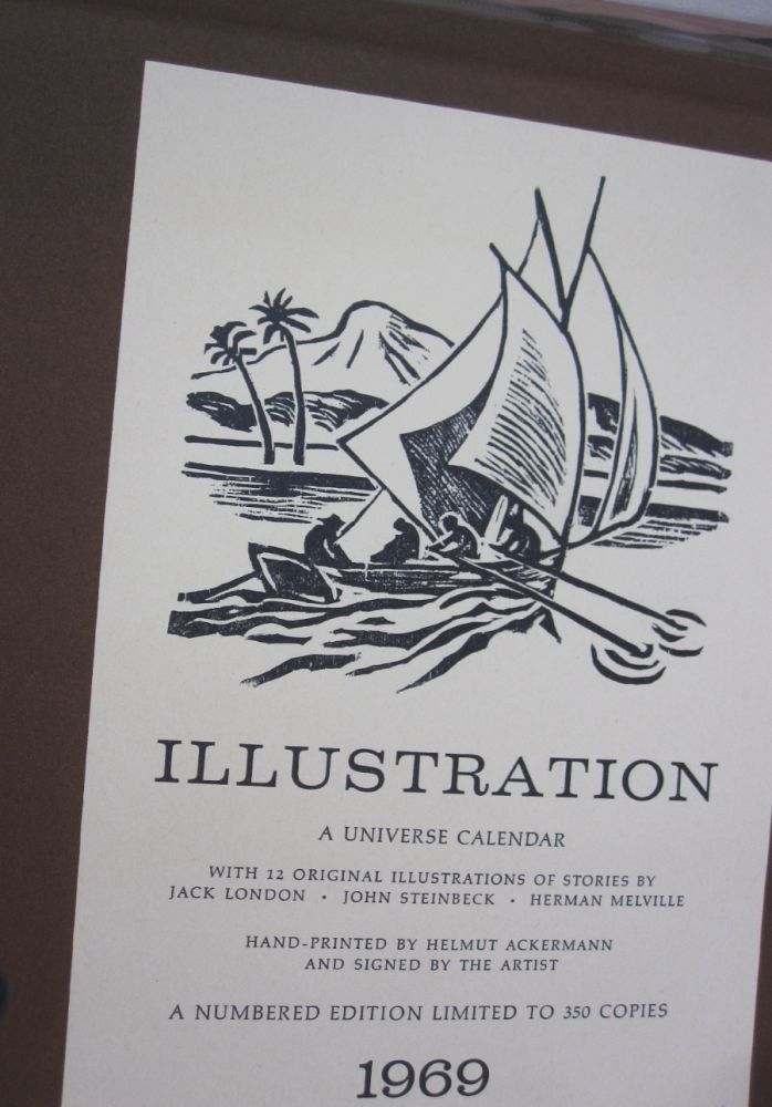 ILLUSTRATION A Universe Calendar; With 12 Original Illustrations of Stories by Jack London, John Steinbeck, Herman Melville
