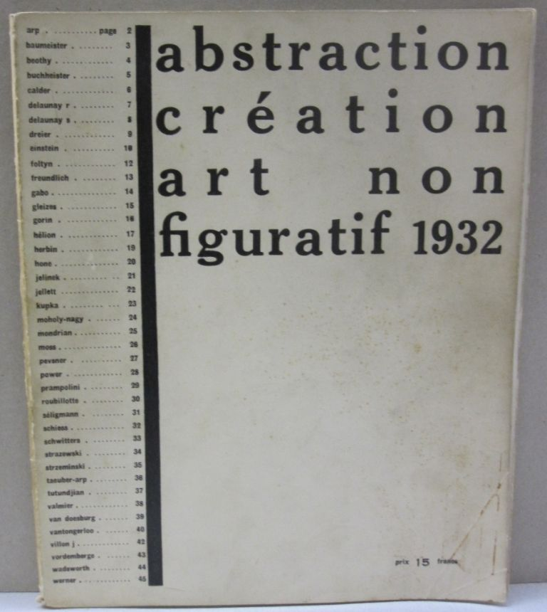 abstraction création art non figuratif 1932.
