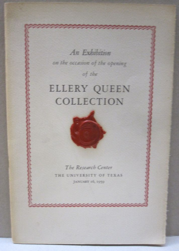 An Exhibition on the occassion of the opening of the Ellery Queen Collection. F. W. Roberts.