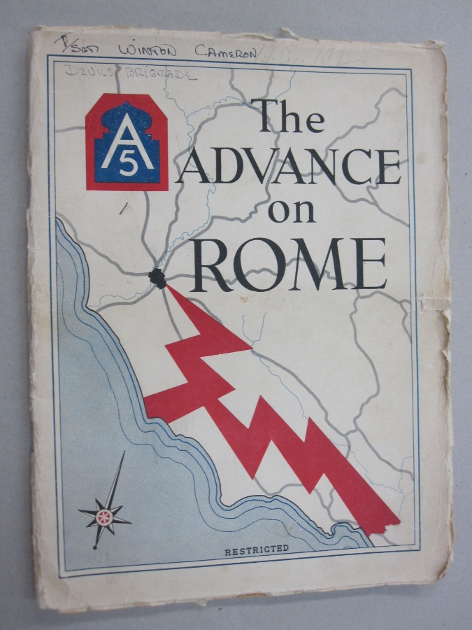 The Advance on Rome of the Fifth Army; Under command of Lieutenant General Mark W. Clark. Headquarters Fifth Army G-3 Section.