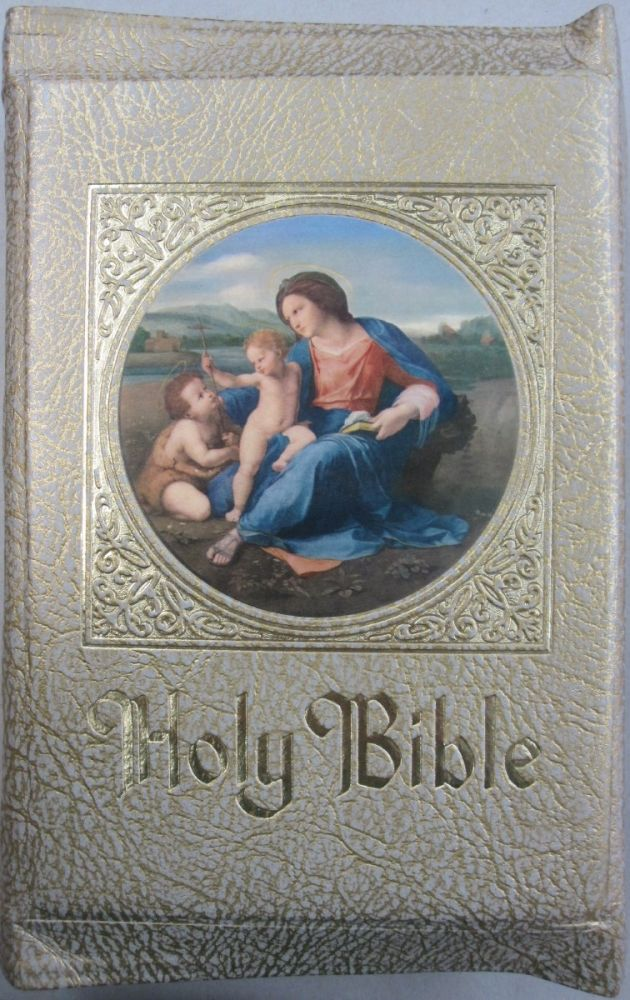 The Family Rosary Commemorative Edition of the Catholic Bible Issued in remembrance of The Marian Year. Arfchbishop of Chicago His Eminence Samuel Cardinal Stritch.