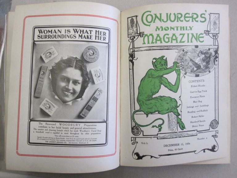 The Conjurers' Monthly Magazine Volume 1, Issues 1-12 September 15, 1906 - August 15, 1907. Harry Houdini.