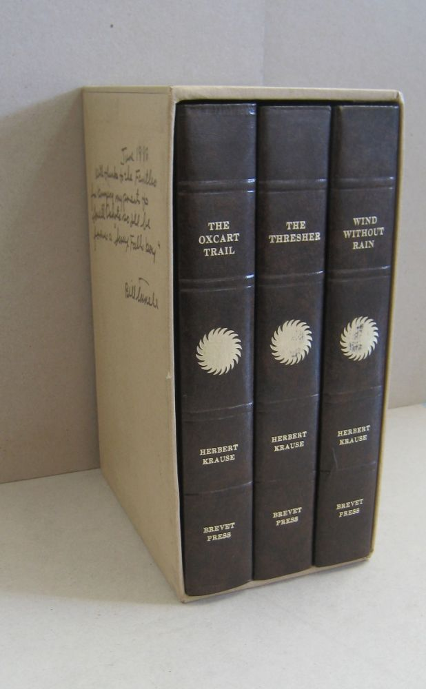 The Oxcart Trail, The Thresher, Wind Without Rain 3 volume set. Herbert Krause.