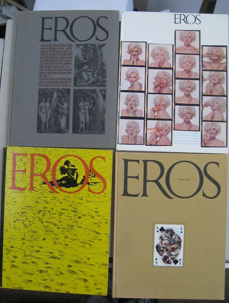 Eros 1962 Volume One, Number One, Two, Three, and Four 4 volume set. Ralph Ginzburg.