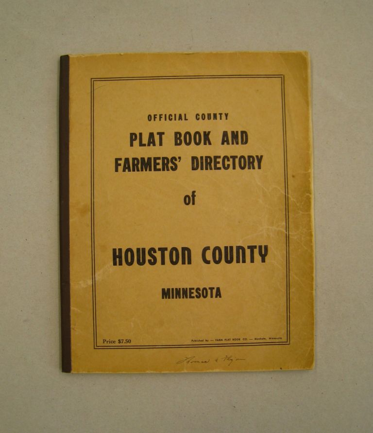 Official County Plat book and Rural Directory of Houston County, Minnesota.