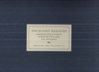 The Bloody Massacre; perpetrated in King-Street, Boston, on March 5th 1770 by a party of the 29th...