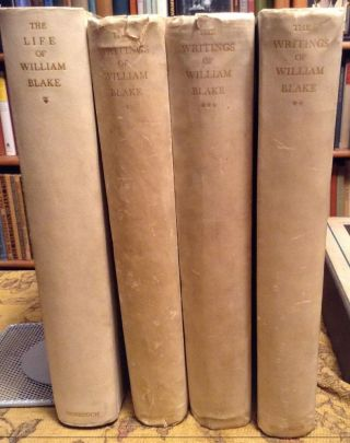 The Writings of William Blake in Three volumes, also The Life of William Blake by Mona Wilson ...