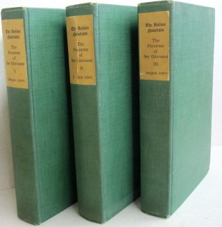 The Pecorone of Ser Giovanni; Three volumes. Ger Giovanni, translation into, W G. Waters