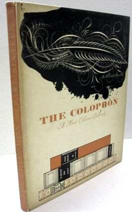 The Colophon; A Book Collector's Quarterly PART SIXTEEN. Adler.