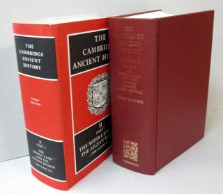 The Cambridge Ancient History Volume 2, Part 2; The Middle East and the Aegean Regioni c1380-1000...