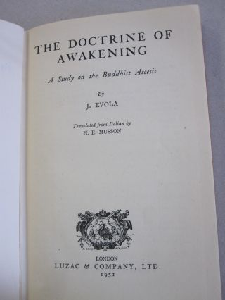 The Doctrine of Awakening; A Study on the Buddhist Ascesis