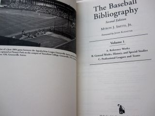 The Baseball Bibliography; Four volume set