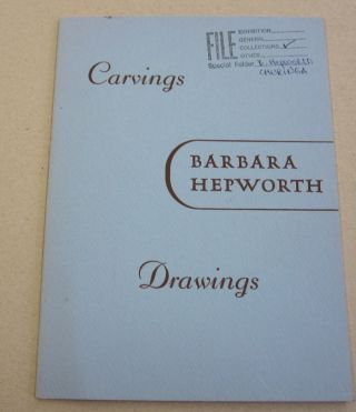 Carvings and Drawings 1937-1954. Barbara Hepworth