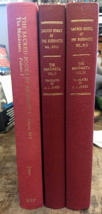 The Mahavastu; Three volumes. J J. Jones