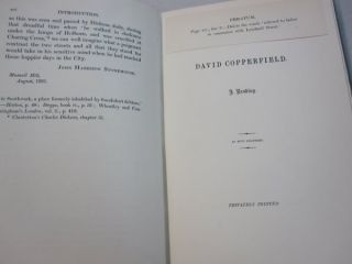 David Copperfield A Reading in Five Chapters; With a Note on the Romantic History of Charles Dickens and Maria Beadnell