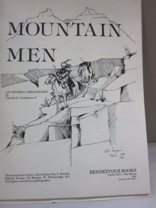 Mountain Men; An Informal Bibliography