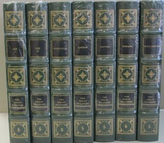 THE GREAT MILITARY COMMANDERS SEVEN VOLUME SHRINKWRAPPED SET. Lee (Volume 1 and 2), Napoleon,...