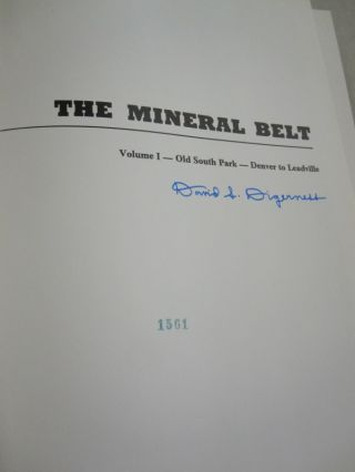 The Mineral Belt; THREE VOLUME SET. . SIGNED LIMITED EDITIONS