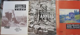 Colorado Rail Annual Set First 23 volumes 1963 1964 1965 1966 1967 1968 1969 1970 Nine Ten 11 12 13 14 15 16 17 18 19 20 21 22 23.