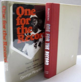 One for the record: The inside story of Hank Aaron's chase for the home-run record. George Plimpton