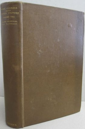War Diaries and Other Papers; VOLUME TWO. Major-General Max Hoffmann.