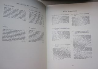 Bibliography of the Fine Books Published by the Limited Editions Club 1929-1985.