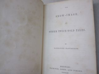 The Snow-Image, and Other Twice-Told Tales.