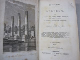 Principles of Geology Fourth Edition 4 volume set; Being an Inquiry How Far the Former Changes of The Earth's Surface are Referable to Causes Now in Operation