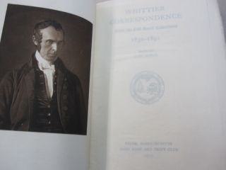 Whittier Correspondence from the Oak Knoll Collections 1830-1892.