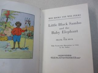 Little Black Sambo and the Baby Elephant.