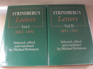 Strindberg's Letters; TWO VOLUME SET. Michael Robinson