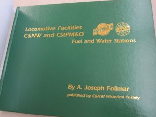 Locomotive facilities, C & NW and CStPM & O Fuel and water stations.