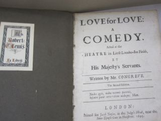 Love for Love; A Comedy