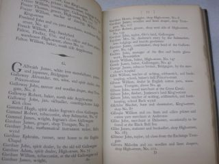 A Reprint of Jones's Directory; or, Useful Pocket Companion for the Year 1789: Containing an Alphabetical List of the Names and Places and Abode of the Merchants, Manufacturers, Traders, and Shopkeepers, in and about the City of Glasgow.