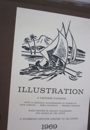 ILLUSTRATION A Universe Calendar; With 12 Original Illustrations of Stories by Jack London, John...