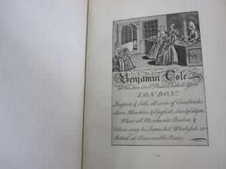London Tradesmen's Cards of the XVIII Century; An Account of their Origin and Use