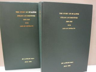 The Story of McAlpine Steam Locomotives 1869-1965 With Lists of Contracts. JB Latham FRICS