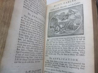 Fables of Aesop and Others; Newly done into English with an Application to each Fable Illustrated with CUTTS