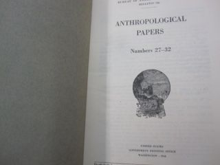 Anthropological Papers; #27-32