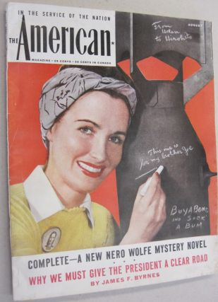 The American Magazine August 1945 - Help Wanted, Male. Rex Stout, Crowell-Collier