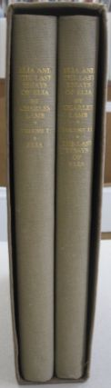 Elia and the Last Essays of Elia; in two volumes. Charles Lamb