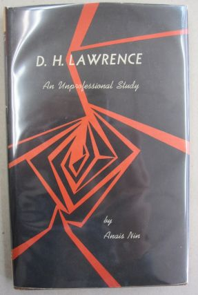 D. H. Lawrence; An Unprofessional Study. Anais Nin