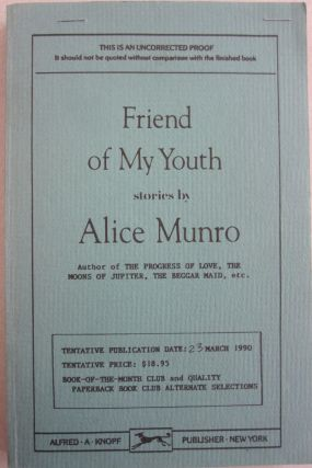 Friend of My Youth. Alice Munro