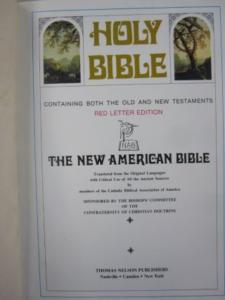 Holy Bible; Containing Both the Old and New Testaments RED LETTER EDITION