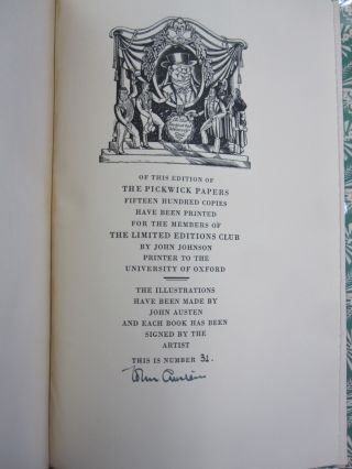 The Posthumous Papers of the Pickwick Club.